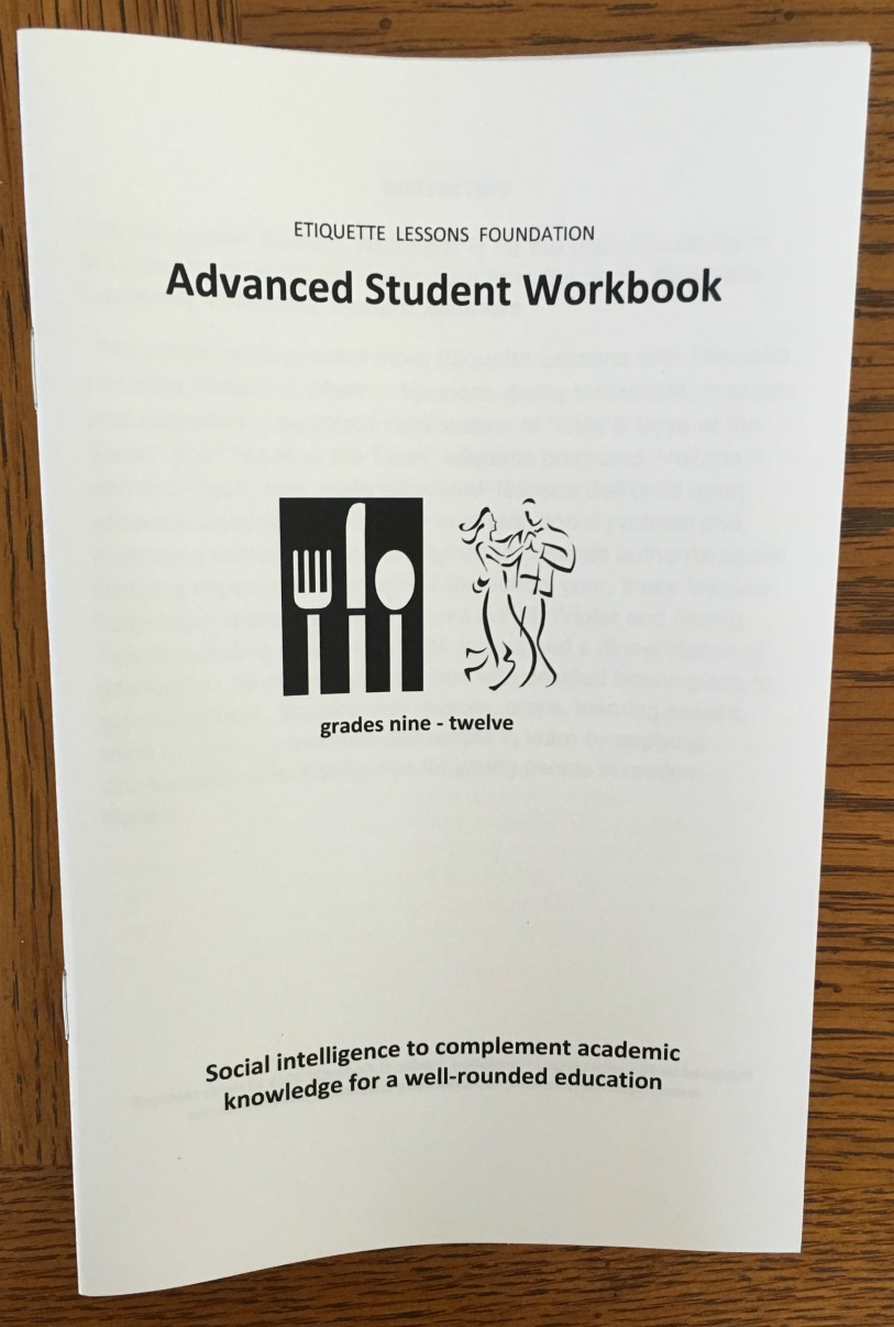Advanced Student Workbook for Grades 9-12 - Etiquette Lessons ...